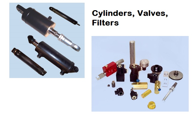 cylinders, valves, filters